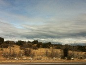 Stirred clouds in silver city