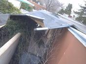 Wind blown garage