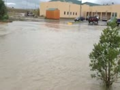Crownpoint, NM flood on NTU campus 09-13-2013
