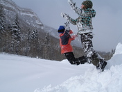 There's never too much snow in Durango when you're a kid!
