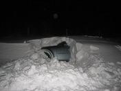 snow drifted car