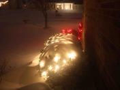 Covered Christmas lights