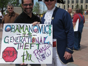 Stephen Black of OKC Protesting at TEA Party with Thad Balkman of Norman
