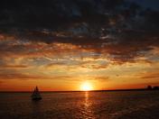 sunset @ lake hefner 04/23/09