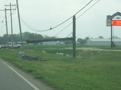 Power Poles Snapped in Half
