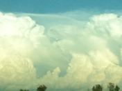 Flow between clouds/storms view from Luther