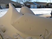Sculpted snow