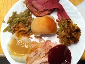 My thanksgiving plate!! :)