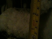 Snow 1mile north of Newkirk at 7:30p