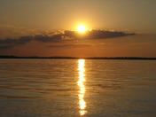 The beautiful sunset at Lake Eufaula