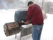 bar-b-que in the snow