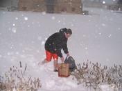 Flipflops+Shorts+Snow= Bad Choice