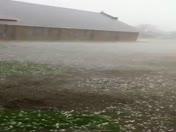 hail in Snyder oklahoma