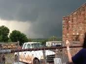 tornado north of Wellston, Oklahoma