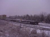 Snow covered train car
