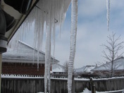 icicles after ice storm