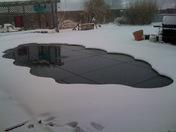 Snow Around the Pool