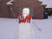 OU/OSU Snowman, Suddath Home, Choctaw, OK