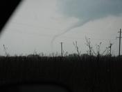 Tornado west of Yukon