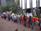 Ethiopia Genocide Protest Passing on Grant St