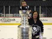 Angelo & Robin w/ Stanley Cup