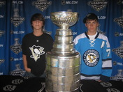 Zach and Dane with the Stanley Cup