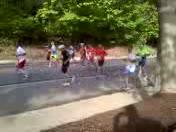Runners running the Marathon