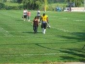 Ziggy walking off the field.