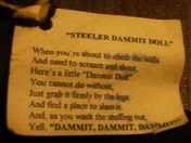 STEELER DAMMIT DOLL SAYING