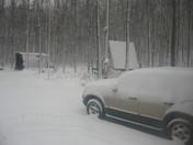 Snow in Tionesta PA.