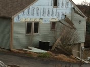 Siding Ripped off in Franklin Park