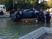 Car in Fountain in Highland Park