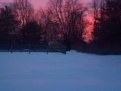 Snowy field in Fairfield
