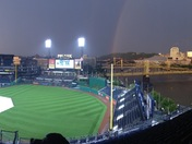 Rainbow delay at Pirate game.