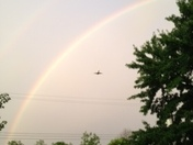 Rainbow after the storm 7/10/13 8:49pm