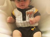 Cutest Little Pirates Fan ~ Carter Cassidy(4mos)