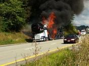 Car hauler catches fire near claysville pa I-70 westbound 4:30 pm