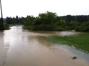 Loyalhanna Floods Fields and Driveway