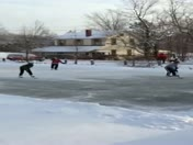 Pond Hockey in Rennerdale
