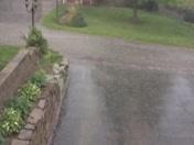 Hail passing through Chippewa Township