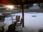 Snow on Pool andTiki Bar