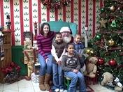 Katlyn, Olivia, Morgan, Camdan with Santa