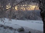 icy sunset - Bridgewater, NH