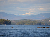 Snowcapped Mt. Washington from Winnipesaukee on 10/11/12