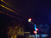 power lines level at traffic light