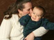 Kisses for my baby boy!