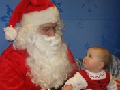 Meeting Santa for the first time