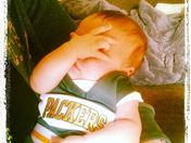 Baby disappointed in the Packers