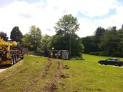 Fwd: Truck rollover rt33 @ Stratham circle. 5/23/12