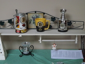 A small part of my Bruins wall.GO BRUINS